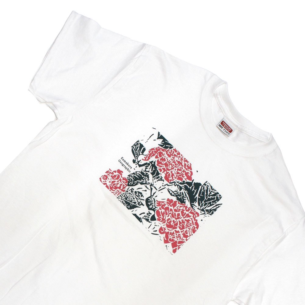 【鎌Tシャツ / あじさい(ピンク)】<br>  アムマックスのオリジナルTシャツ