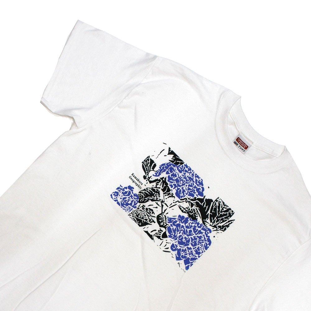 【鎌Tシャツ / あじさい(ブルー)】<br>  アムマックスのオリジナルTシャツ
