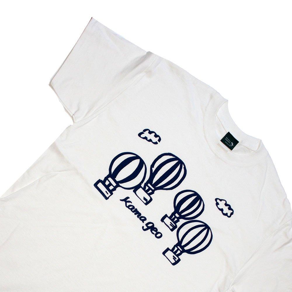 【鎌Tシャツ / バルーン(ホワイト)】<br>  アムマックスの手描きイラストTシャツ