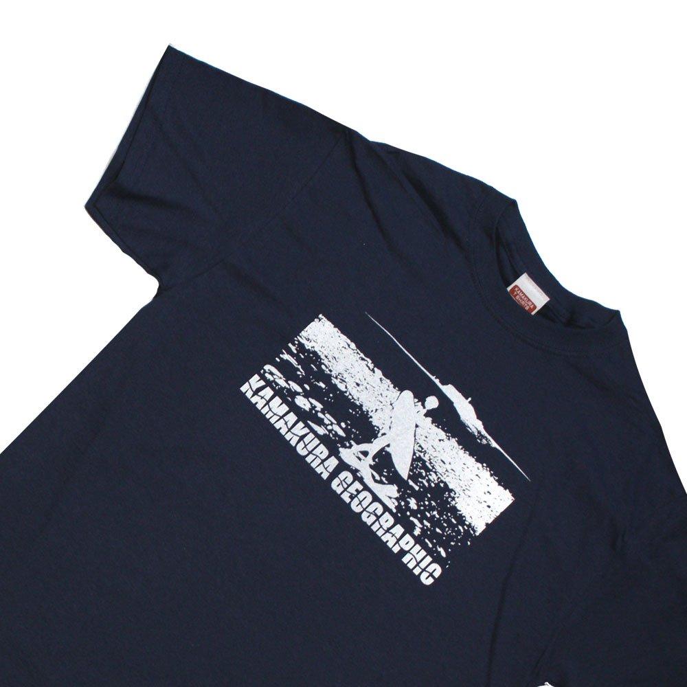 【鎌Tシャツ / ビーチブレイク(ネイビー)】<br>  アムマックスのオリジナルTシャツ