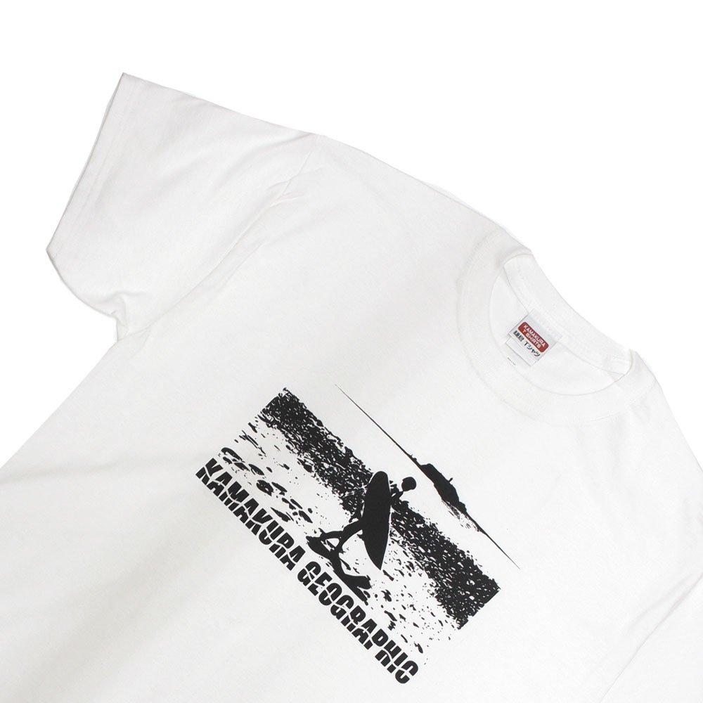 【鎌Tシャツ / ビーチブレイク(ホワイト)】<br>  アムマックスのオリジナルTシャツ