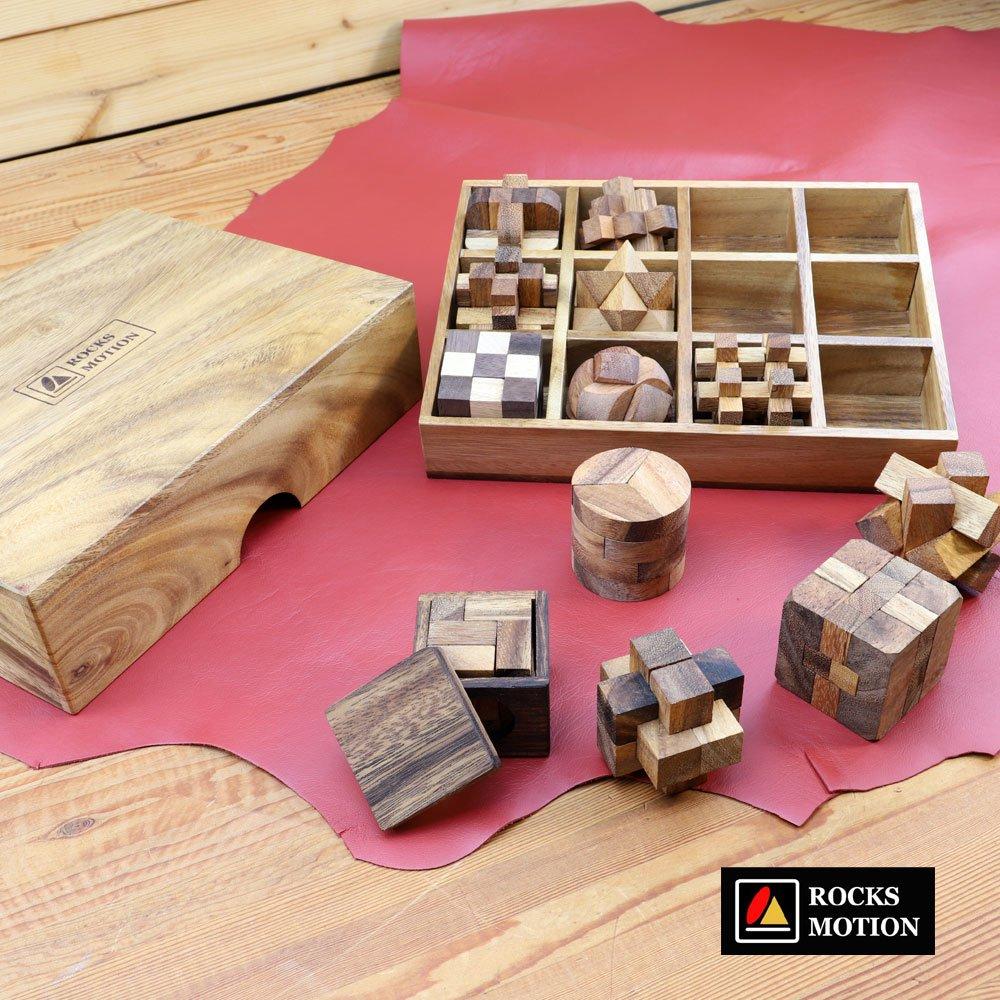 木製パズル12個フルセット 説明書付き ROCKSMOTION