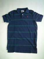 アバクロンビー&フィッチ Abercrombie&Fitch BLUE Made In Peru 100%COTTON