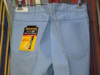 ディッキーズ DICKIES LOT4785W FLARE LIGHTBLUE 50%POLYESTER 50%COTTON