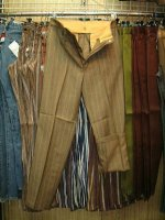 MrDeeCee LOT4-1154/290 BROWN PERMANENT PRESS 70%DACRON POLYESTER 30%WORSTED WOOL
