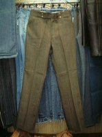 Hicks LOT 3898-7 MADE IN U.S.A. FLARE Green WAIST30 LENGTH31 HI-RISE 50%POLYESTER 50%COTTON