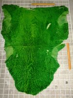 ムートン 羊皮 羊革 GREEN グリーン 緑|ムートン070
