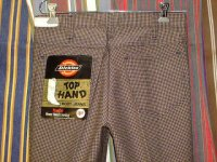 ディッキーズ DICKIES LOT929A TOP HAND BOOT JEANS SHAPE/SET BOOT-CUT BROWN 50%POLYESTER 50%COTTON