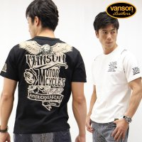 VANSON バンソン 天竺半袖Tシャツ イーグル&ロゴ nvst-816<img class='new_mark_img2' src='//img.shop-pro.jp/img/new/icons5.gif' style='border:none;display:inline;margin:0px;padding:0px;width:auto;' />