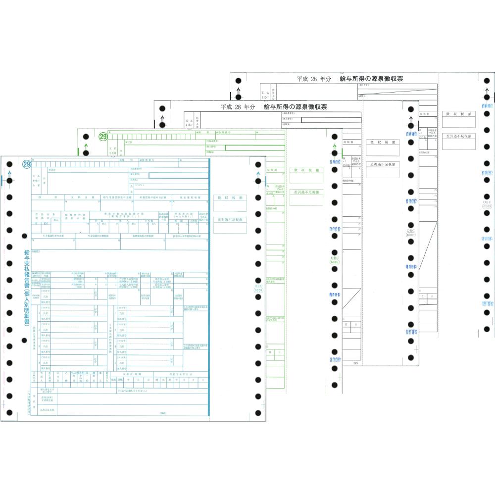6009-A16 平成28年分 源泉徴収票 連続用紙 100セット
