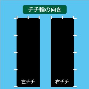 6色から選ぶ!明朝体1行のぼり(1800x450mm)