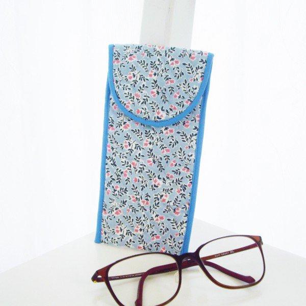 ソフト眼鏡ケース*ブルーピンクプチフ...