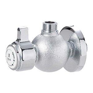 アングル止水栓〔丸型〕 クローム|Essence