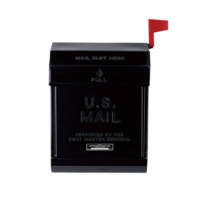 U,S, Mail box2 ブラック|ARTWORKSTUDIO
