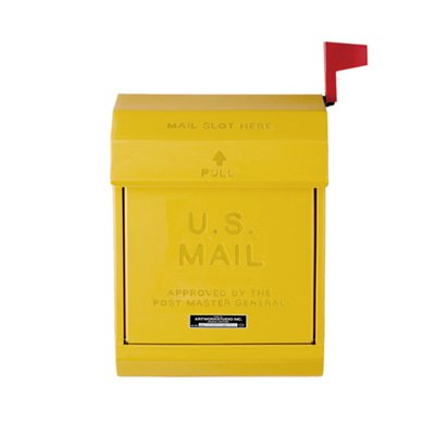 U,S, Mail box2 イエロー|ARTWORKSTUDIO