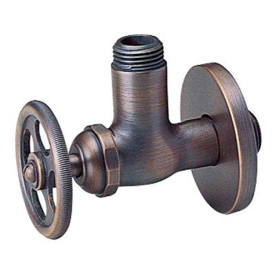 アングル止水栓〔理科型〕 ブロンズ|Essence