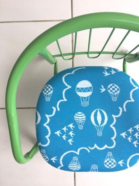「気球ブルー」豆椅子