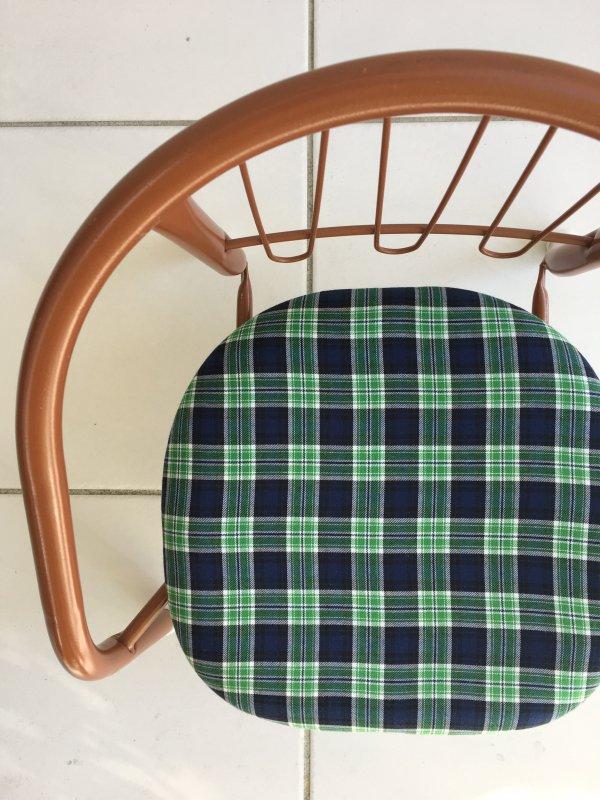 「タータングリーン」豆椅子