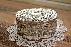アンティーク ジュエリーボックス(宝石箱) シルバープレート(銀メッキ) アメリカ