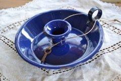 写真の商品も、ご一緒にいかがでしょうか?アンティーク ホーロー キャンドルホルダー ブルー