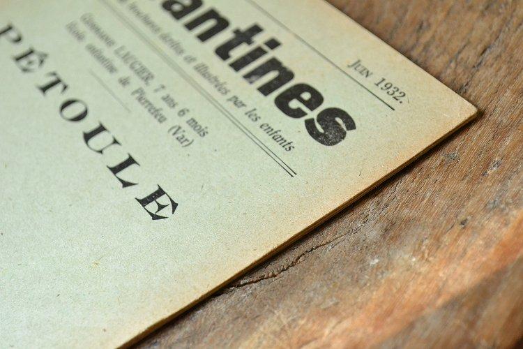 子供向けのアンティーク本 ブック 小冊子 洋書 古書 児童書 絵本 フランス 1900年代初期です。