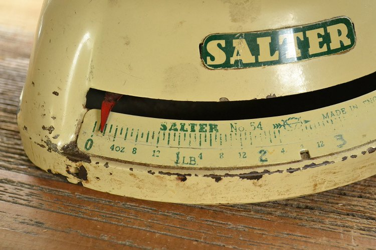 ソルター(SALTER)キッチンスケール/ビンテージ/イギリス/グリーントリムです。