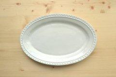 オーバルプレート L ラウンド ラ・レーヌ(La reine) メゾンブランシュ(maison blanche) 白い 食器 日本製 アンティーク調