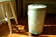 ペダルビン ラウンドL ライトグリーン 60844 ダストボックス ペール ふた付き ゴミ箱 ポッシュリビング PL