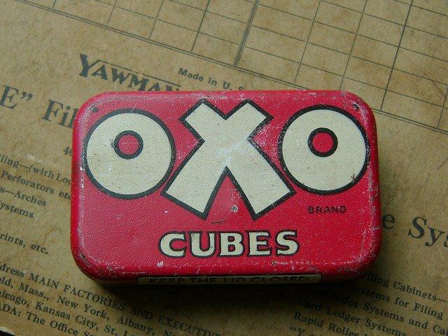 アンティーク tin缶 ・ オクソ キューブ 缶 (OXO CUBES tin缶)
