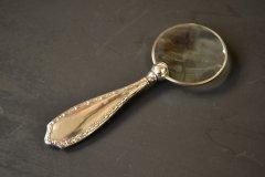 アンティークシルバーのルーペ・虫眼鏡 英国スターリングシルバー・銀器(925 純銀) バーミンガム 1907年
