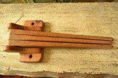 手作り感あふれる木製アンティーク タオルハンガー アメリカ