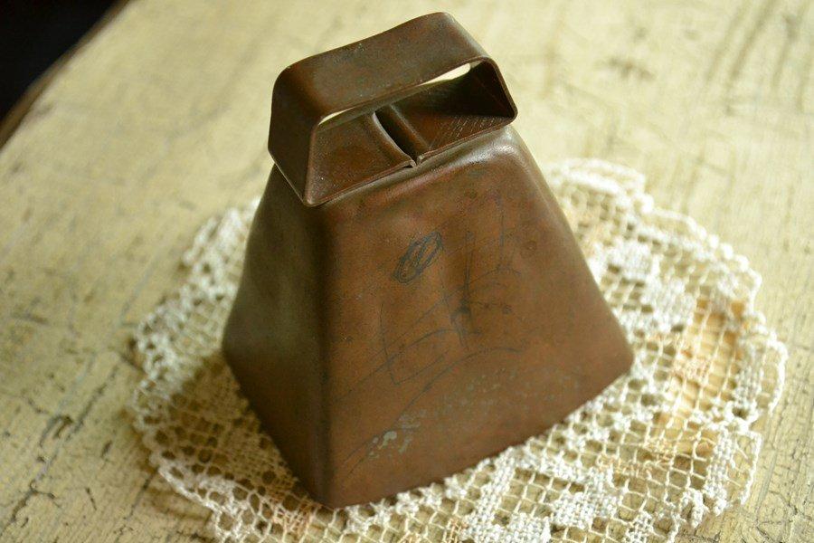 アンティーク カウベル 銅製 アメリカ