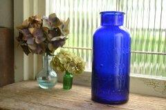 アンティークボトル コバルトブルーボトル 薬瓶 大きいサイズ BROMO SELTZER/EMERSON DRUG CO