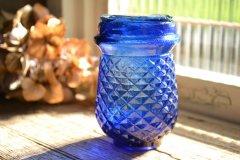 アンティークボトル イルミネーション グラス コバルトブルー