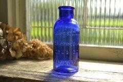 アンティークボトル BROMO SELTZER/エマーソンドラッグ コバルトブルーボトル 薬瓶 大サイズ