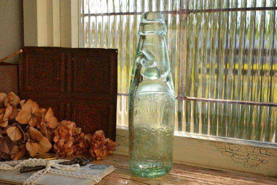 アンティークなイギリスのラムネ瓶/エン...