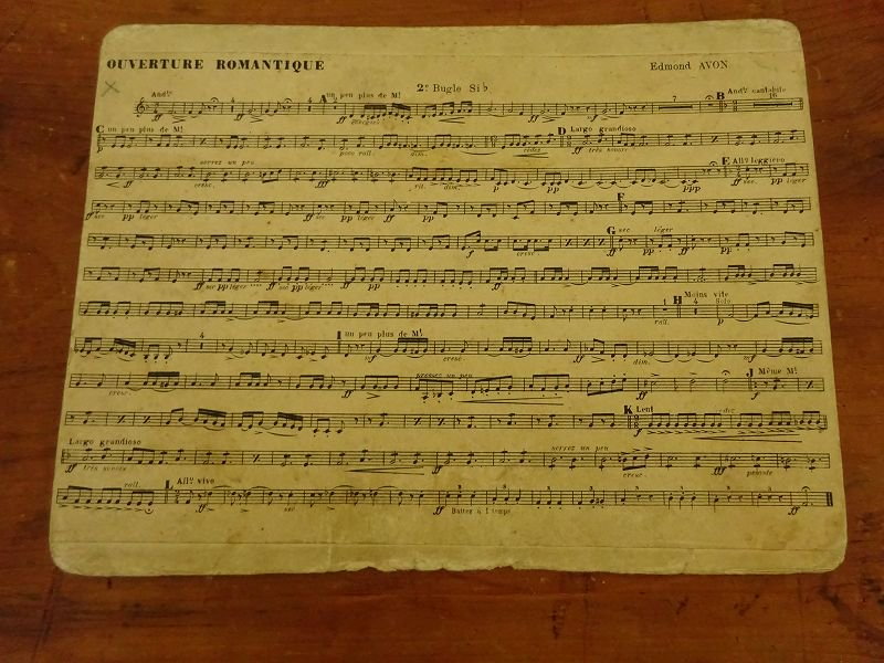 フランスの古い楽譜 29です。