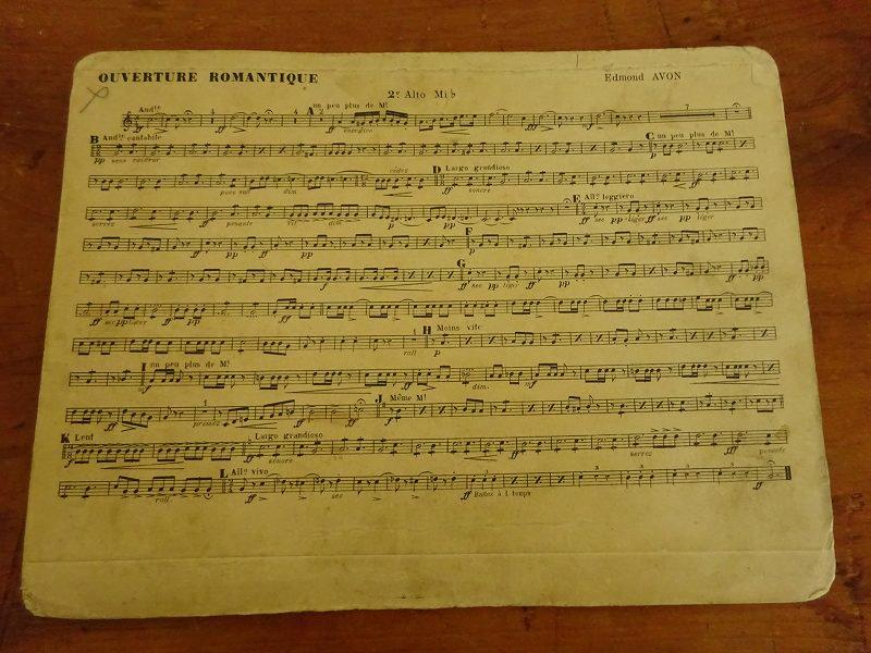 フランスの古い楽譜 14です。