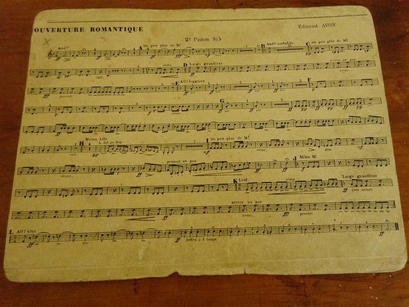 フランスの古い楽譜 25です。