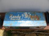 Vintage Blue Metal HANDY ANDY TOOL BOX