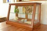 送料無料!木とガラスのショーケース アカシア EWIG ミニキャビネット ガラスケース ショーケース 40820 ワイドタイプ***少し訳あり***