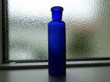 コバルトブルーのアンティークミニボトル