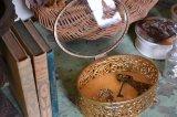 アンティーク ジュエリーボックス(宝石箱) 真鍮製とガラス蓋