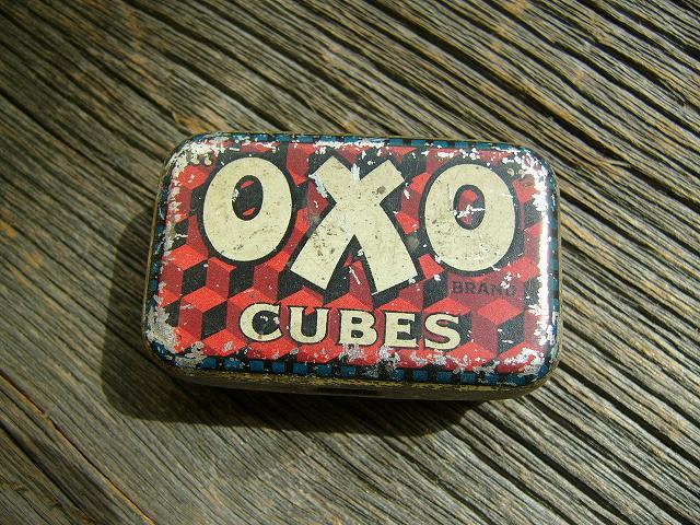 """アンティーク OXO(オクソ) tin缶(ティン缶) """"OXO""""CUBES"""
