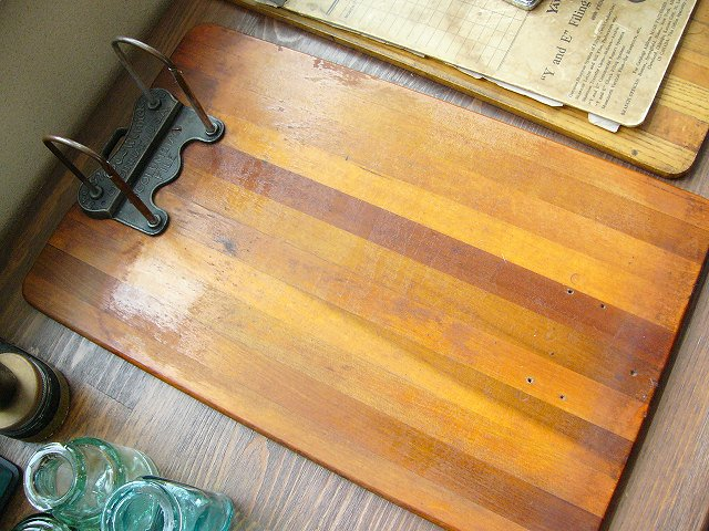 ビンテージ 木製クリップボード アメリカ製 経年による風合いが素敵!