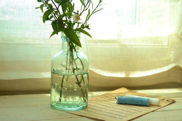 大きなアンティーク ガラス ボトル / LONDON