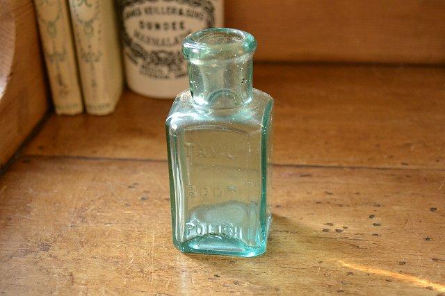 TAVU BOOT POLISH/アンティーク ガラスボトル/薬瓶
