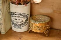 アンティーク ジュエリー ボックス(宝石箱) 小型 真鍮製 アメリカ製