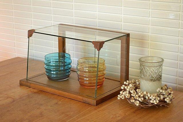 木とガラスのショーケース/WOODガラスショーケース Sサイズ