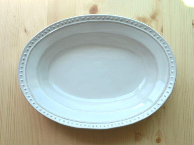 オーバルボウル ラ・レーヌ(La reine) メゾンブランシュ(maison blanche) 白い 食器 日本製 アンティー…